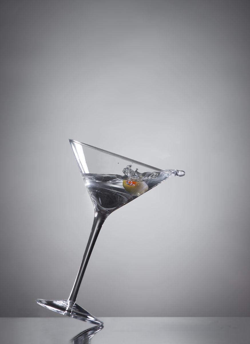 Martini glass tipping