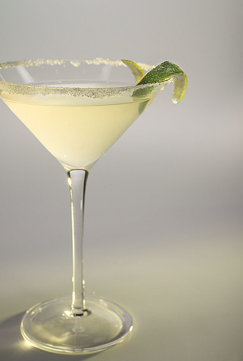 Lemon Martini with a twist of lime